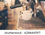 espresso shot from coffee... | Shutterstock . vector #628664597