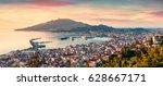aerial view of zakynthos  zante ... | Shutterstock . vector #628667171