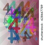 number 4 vector design | Shutterstock .eps vector #628667789