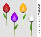 paper cut cartoon colorful... | Shutterstock .eps vector #628676141