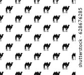 camel pattern seamless in... | Shutterstock .eps vector #628676285