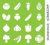 set of vegetables icons. vector ... | Shutterstock .eps vector #628682249