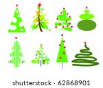 christmas trees | Shutterstock .eps vector #62868901