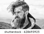 bearded man. bearded man  long... | Shutterstock . vector #628693925