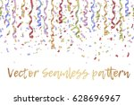 curly golden paper ribbon and... | Shutterstock .eps vector #628696967