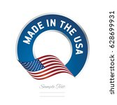 made in the usa flag color... | Shutterstock .eps vector #628699931