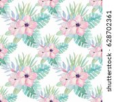watercolor pattern with... | Shutterstock . vector #628702361