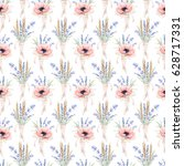 watercolor seamless pattern... | Shutterstock . vector #628717331