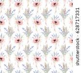 watercolor seamless pattern... | Shutterstock . vector #628717331