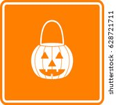pumpkin jack o' lantern shaped... | Shutterstock .eps vector #628721711