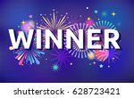 winner  victory background ... | Shutterstock .eps vector #628723421