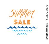 vector summer sale hand drawn... | Shutterstock .eps vector #628726079