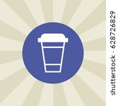 cup icon. sign design.... | Shutterstock .eps vector #628726829