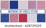set of american patriotic stars ... | Shutterstock .eps vector #628729235