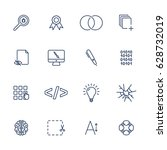 set with different office icons....