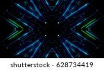 futuristic lights | Shutterstock . vector #628734419