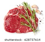 fresh raw rib eye steak... | Shutterstock . vector #628737614