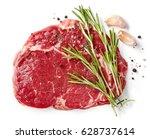 fresh raw rib eye steak... | Shutterstock . vector #628737614