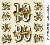 happy anniversary   Shutterstock .eps vector #628738667