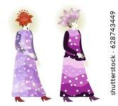 Vintage Fashion Girls In Polka...