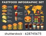 set of vector illustrations ... | Shutterstock .eps vector #628745675