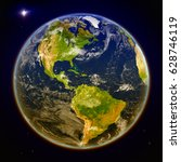 Americas From Space. 3d...