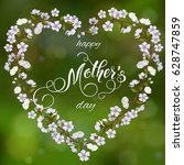 mothers day greeting card.... | Shutterstock .eps vector #628747859