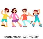 little children boys and girls... | Shutterstock .eps vector #628749389