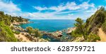panorama of rocks on the coast... | Shutterstock . vector #628759721