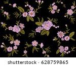 vintage embroidered wallpaper... | Shutterstock .eps vector #628759865