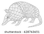 adult coloring page armadillo...
