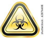 biohazard sign. vector... | Shutterstock .eps vector #62876608