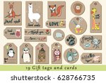 gift tags  cards  labels and... | Shutterstock .eps vector #628766735
