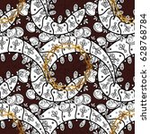 pattern floral pattern. vector... | Shutterstock .eps vector #628768784