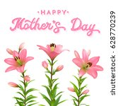 mothers day greeting card with... | Shutterstock .eps vector #628770239