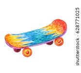 cute watercolor colorful... | Shutterstock . vector #628771025