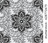 seamless pattern white elements.... | Shutterstock .eps vector #628772675