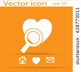 search the heart icon | Shutterstock .eps vector #628773011