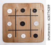 a win at a game of tic tac toe...   Shutterstock . vector #628774289