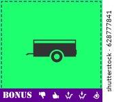 car trailer icon flat. simple...