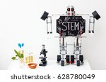 stem education. chalk on a... | Shutterstock . vector #628780049
