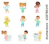 cute little boys and girls... | Shutterstock .eps vector #628780145
