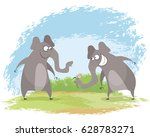 vector illustration of a two...   Shutterstock .eps vector #628783271