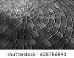 Background Gray Circular Pavin...