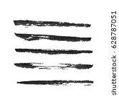 set of hand drawn grunge brush... | Shutterstock .eps vector #628787051