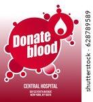 blood donation poster | Shutterstock .eps vector #628789589