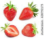 strawberry half collection... | Shutterstock . vector #628792175