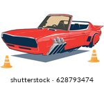 flying car  the car of the... | Shutterstock .eps vector #628793474