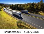 trucks transportation | Shutterstock . vector #628793831