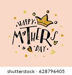 happy mother's day text as... | Shutterstock .eps vector #628796405